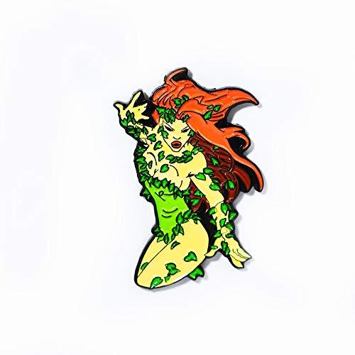 Poison Ivy Batman DC Comic Pendant Lapel Hat Pin]()