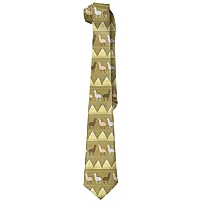 ZQ-SOUTH Men's Llama Art Pattern Casual All Over Skinny Novelty Neck Tie