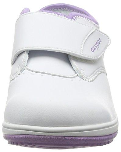 Oxypas Medilogic Emily Slip-resistant, Antistatic Nursing Shoe, White (Lic), 4 UK (37 EU)