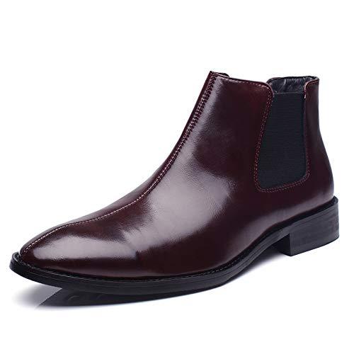 Shukun Herren Stiefel Stiefel Herren Spitz Martin Stiefel Stiefel Chelsea Stiefel Hair Stylist High Top Schuhe