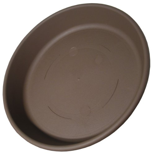 Akro Mils SLI06000E21 Classic Saucer for 6-Inch Classic Pot, Chocolate, 6.88-Inch ()