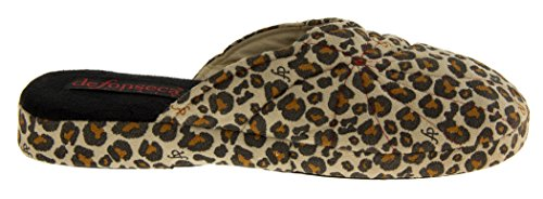 New Ladies Leopard Print Brown Padded Soft Feel Mule Slippers Size s 3 4 5 6 7 8 Leopard Print jwzY9HH