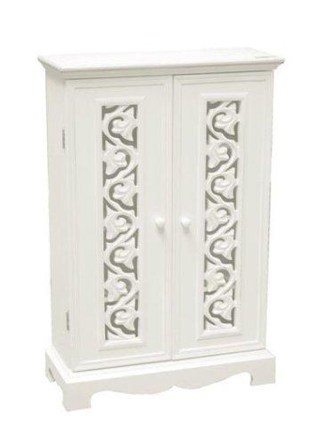 Belgravia Shabby Chic White Cd Cabinet: Amazon.co.uk: Kitchen & Home