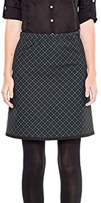 MAXSTUDIO Plaid DOUBLEKNIT Skirt