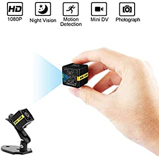 Mini Spy Camera Hidden Camera PANNOVO Security Camera Full HD 1080p Portable Small Nanny Cam with Night Vision and Motion Detection for Indoor and Outdoor