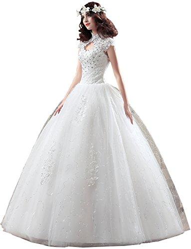 Spitze Damen Hochzeitskleid Brautkleider Abendkleider Stil Hochwertig I Ivydressing E6RxqwgE