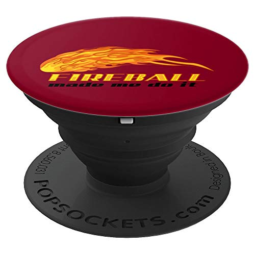 Fireball Made Me Do It Art   Cool Bartender On Fire Gift - PopSockets Grip and Stand for Phones and Tablets ()