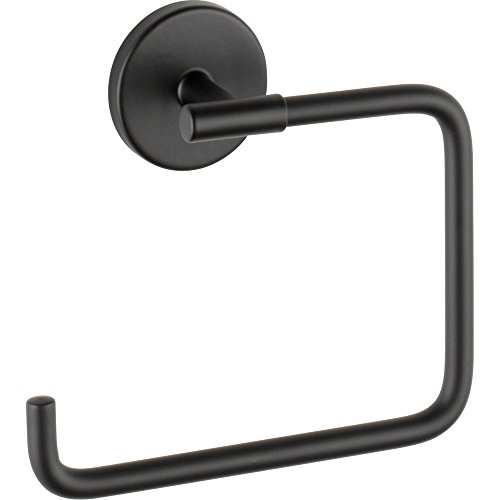 (Delta 759460 Trinsic Wall Mounted Towel Ring, Matte Black )