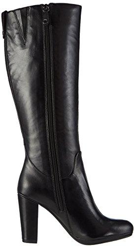 GeoxD KALI B - botas de caño alto Mujer Negro - Schwarz (C9999BLACK)