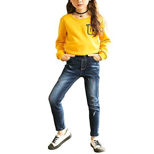 Jeans Vaqueros Pantalones De Niñas Elasticidad Animados Denim 60 Algodón Dibujos F8wd46qp
