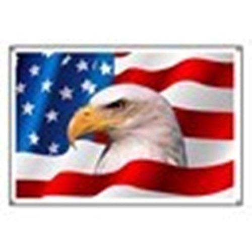 "CafePress Bald Eagle On American Flag - Vinyl Banner, 44""x30"