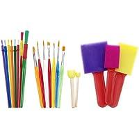 Darice–Plantilla para grabar en relieve 20-Piece Kids Brush Set