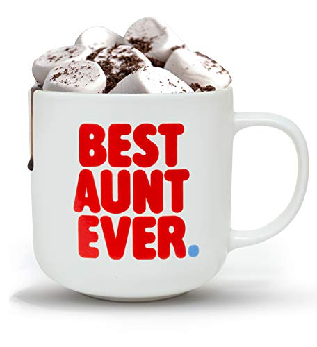 Gifffted Worlds Best Aunt Ever Coffee Mug For My Favorite Aunt, Funny Gifts Ideas For Great Cool Aunts Day From Niece Nephew, Any Year Birthday Presents Mugs, Greatest New Aunt, Gift Mugs, 13 Oz Cup