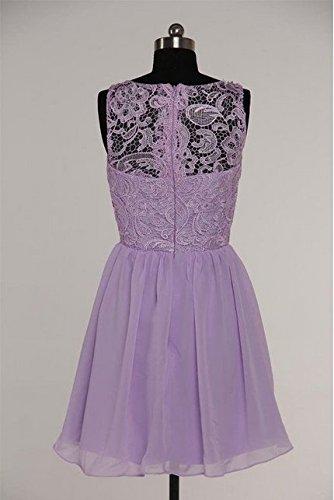 d' abito onore della in Purple da Dress damigella Leader pizzo Prom bellezza chiffon 6fFTqTBO