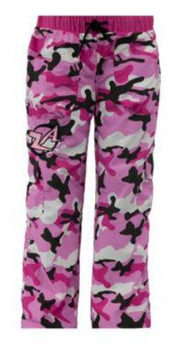 Zumba Kid's Cargo Pants - Pink Camo - X-Large