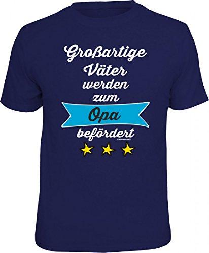 T-Shirt als Geschenk - großartige Väter zum Opa befördert - lustiges Funshirt für den Großvater Geburtstag Vatertag