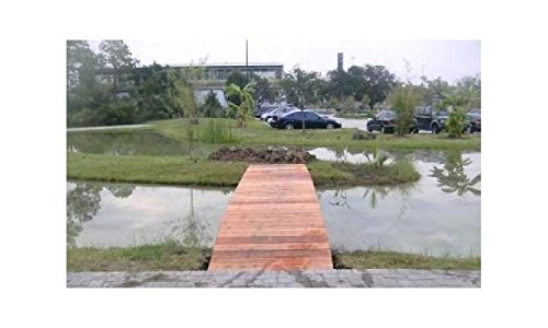 20 ft. Hand Crafted No Post Bridge (Hand Crafted No Post Bridge) by Redwood Garden Bridges