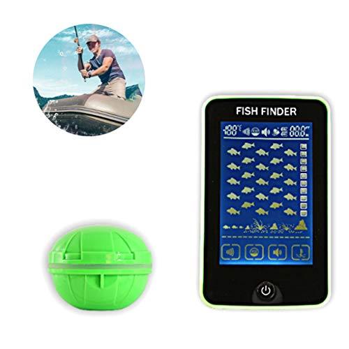 RENYAFEI Portable Fish Detection Sonar Sensor Fishing Finder Alarm 100M Fish Attractor and Fish Gear for Small Boats Rivers Lakes Ice Fishing