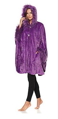 adrienne-landau-hooded-angel-wrap-with-faux-fur-trim-purple