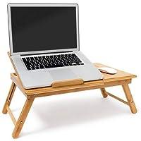 Relaxdays 10019147 - Mesa Plegable para portatil, Bambú