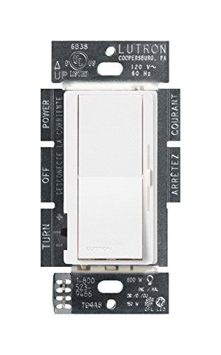 Lutron DVSCCL 153P SW Diva Dimmable Dimmer