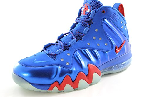 Nike Air Max Barkley Posite Energy Blue/Red Basketball Men Shoes 555097 300 14 D(M) US