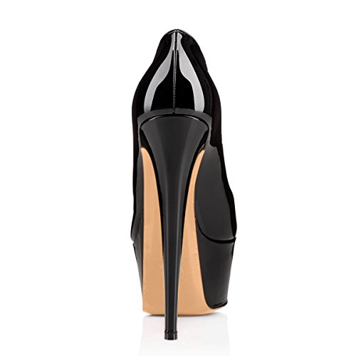 Pumps Shoes Dress Platform Stiletto Women's High Black Handmade Heel closed Party For Wedding Sandals black wfX7vBUq