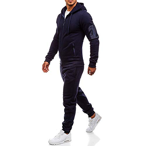 Pantaloni Patchwork Moika Top Sportiva Marina Uomo Uomini Tuta Abbigliamento Autunno Inverno Set Felpa q8fqpT