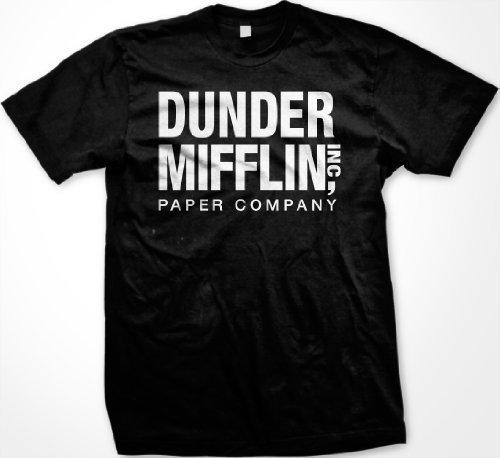 Dunder Mifflin Paper Inc T-shirt, The Office T-shirts, TV show T-shirts, Black, 3XL