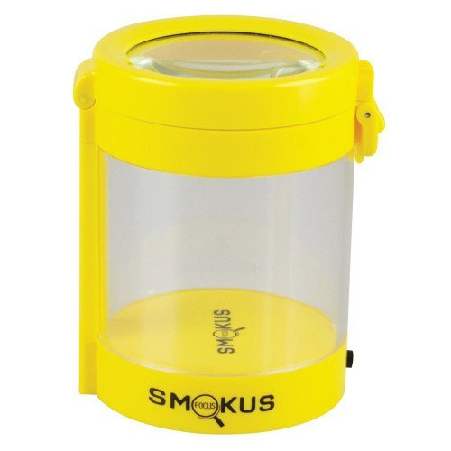 Smokus Focus Light-Up LED Air Tight Storage Magnifying Jar Viewing Container (Middleman, Yellow)