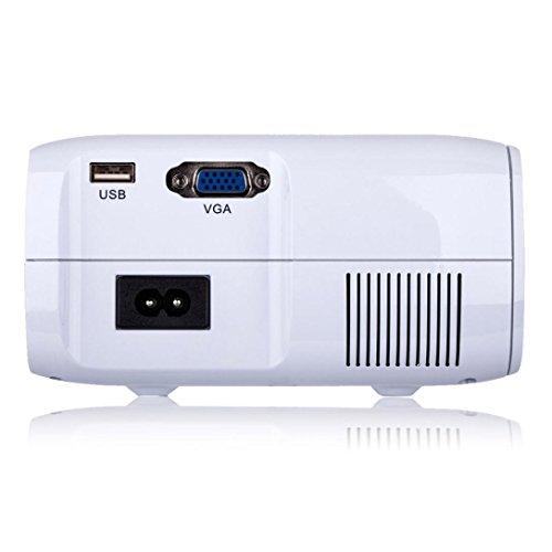 LED HD Micro Home Theater Projector ,Tuscom U80 1000lumens 1080P Multimedia Mini Portable HD Projector (White) by Tuscom (Image #9)
