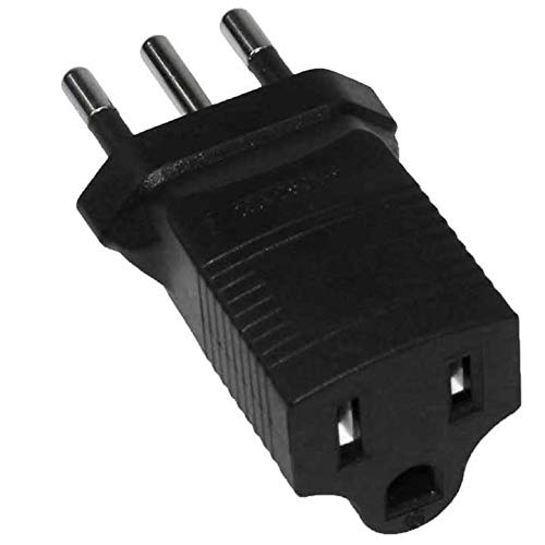 SF Cable, 3 Prong Plug Adapter, USA NEMA 5-15R Receptacle to Italy CEI 23-16