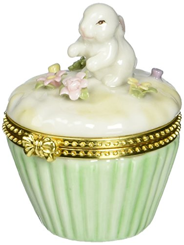 Cosmos 10591 Fine Porcelain Bunny Hinged Box, 2-3/4-Inch