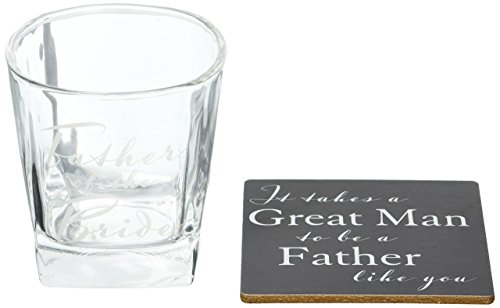 Amore by Juliana Whisky Glass & Coaster - Father of the Bride wedding gift