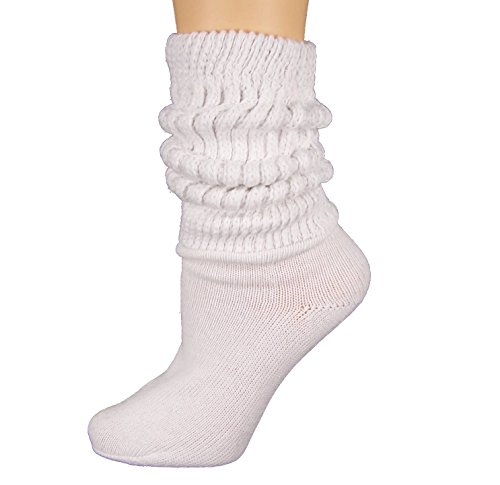 Heavy Slouch Sock Women's White Elliesox Excell Lis-Mar -