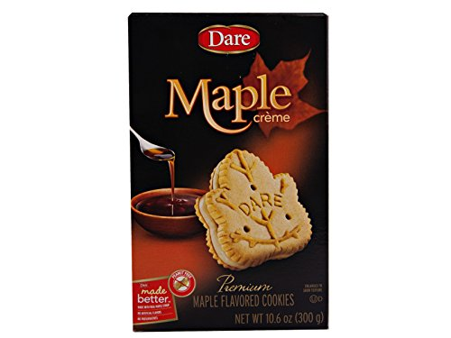 Dare Foods Maple Leaf Creme Cookies 3 /10.2 Ounce - Maple Cookie Sandwich