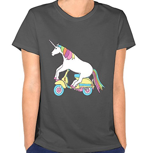 Adult Womens T-Shirts Unicorn Print Shirts Casual Short Sleeve Tops DeepHeather Tees