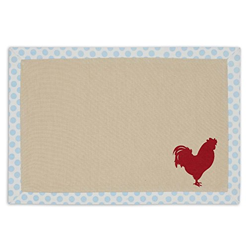 DII 100% Cotton, Printed Everyday Basic Placemats, Fused and Lined 13x19