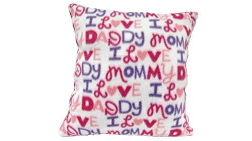 Mommy Daddy Pillow - Pink Fleece Baby Girl, Handmade