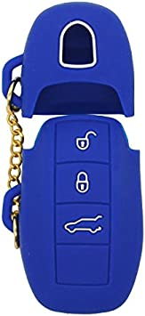 SEGADEN Silicone Cover Protector Case Skin Jacket fit for PORSCHE 3 Button Remote Key Fob CV2920 Orange
