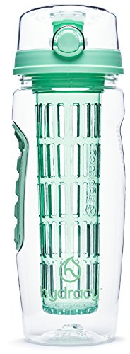Hydracy Fruit Infuser Water Bottle 32 Oz Sport Bottle with Full Length Infusion Rod and Insulating Sleeve Combo Set + 25 Fruit Infused Water Recipes eBook Gift Your Healthy Hydration Made Easy