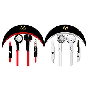 3.5mm High Quality Cylinder Metal Cable Control In-Ear Earphone , Gold