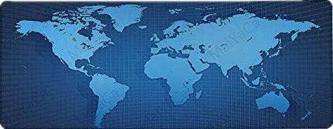 Cartina Del Mondo On Line.90 40 Cm 3 Di Fenchircrc Tappetino Per Mouse Rettangolare Tastiera Con Mappa Del Mondo