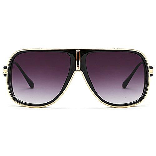 espejo sol sol de del las 80s del de Negro Gafas retro de los clásicas de hombres gafas aviador Unisex q5IwwOYX