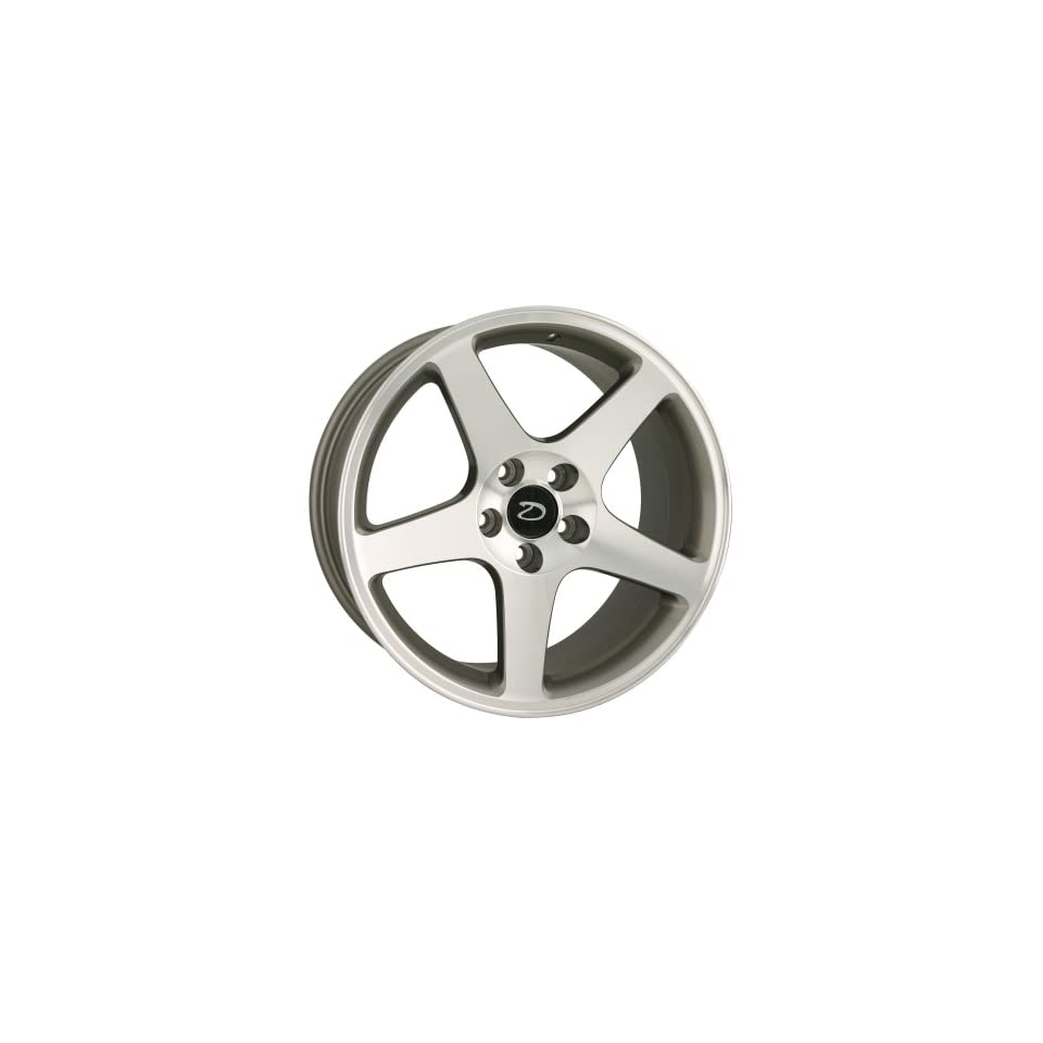 Detroit 815 Replica Ford Mustang Cobra Silver/Machined Finish (18x9)