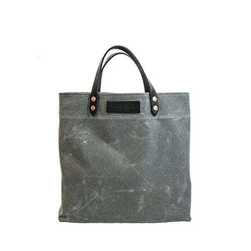 Grocery Tote - Waxed Canvas - Charcoal - Made in USA