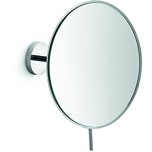 LB Wall Mounted Cosmetic Makeup Magnifying Mirror, Brass, Polished Chrome, 8X