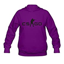 Counter-Strike: Global Offensive Geek 100% Cotton Purple Long Sleeve Hoodies For Womens Size S