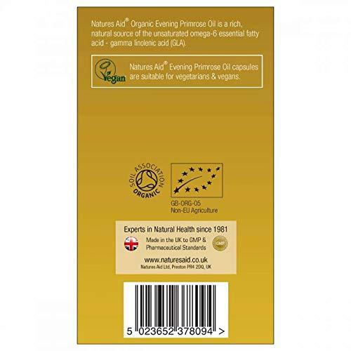 Natures Aid Organic Evening Primrose Oil 90 Vcaps - 2 Pack