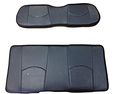 Kool Cushions CCDS2UP-BLACK-01 -Custom Vinyl Golf Cart Seat Covers Front Only-Solid Black - For Club Car DS 2000 and Up Golf Cart